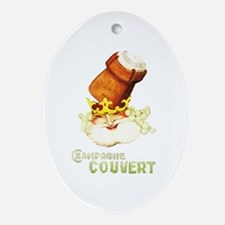 Champagne Couvert Ornament (Oval)
