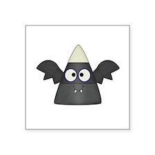 """Candy Corn Bat Square Sticker 3"""" x 3"""""""