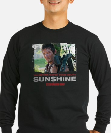 Daryl Dixon Watch Your Mouth Sleeve T-Shirt