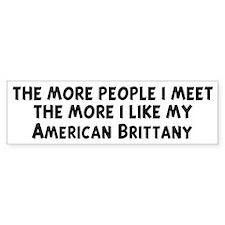 American Brittany: people I m Bumper Bumper Sticker