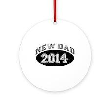 New Dad 2014 Ornament (Round)