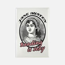 Jane Austen Reading is Sexy Rectangle Magnet