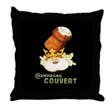 Champagne Couvert Throw Pillow