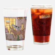 Vintage Bremen Town Musicians Fairy Drinking Glass