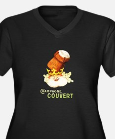Champagne Couvert Plus Size T-Shirt