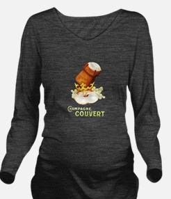 Champagne Couvert Long Sleeve Maternity T-Shirt