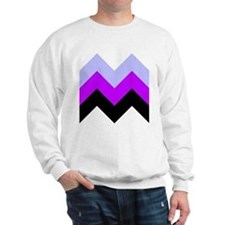 Purple Chevron Sweatshirt