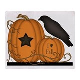 Crow and pumpkin Fleece Blankets