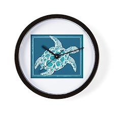 Aqua Sea Turtle Wall Clock