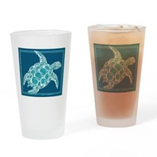 Aqua Sea Turtle Drinking Glass
