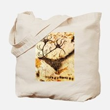 Stags Head Cave Painting Tote Bag