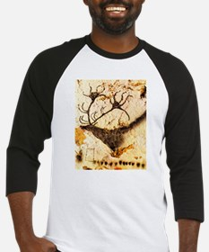 Stags Head Cave Painting Baseball Jersey