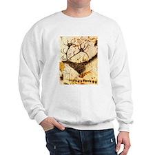 Stags Head Cave Painting Sweatshirt