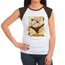 Stags Head Cave Painting Tee