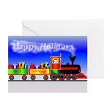 Happy Holidays Train Greeting Cards