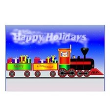 Happy Holidays Train Postcards (Package of 8)