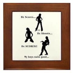 Score-Shoot-Score! Framed Tile