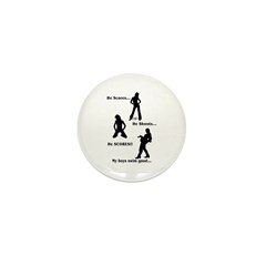 Score-Shoot-Score! Mini Button (100 pack)
