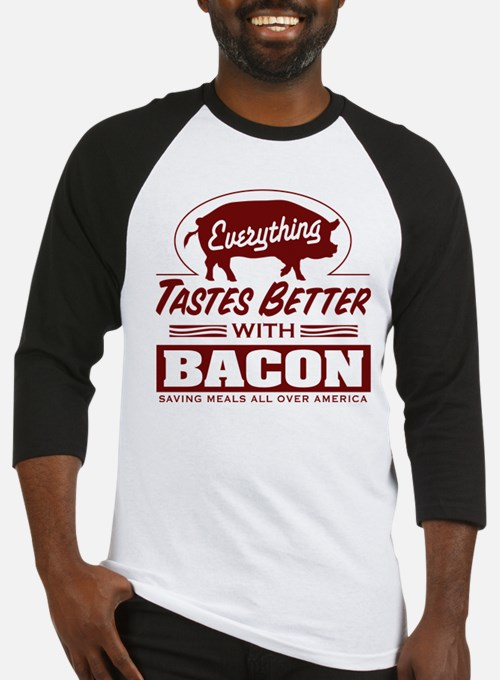 Everythings Better with Bacon Baseball Jersey