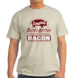 Bacon t shirts Mens Light T-shirts