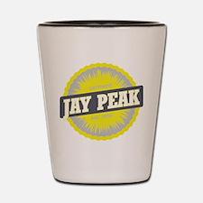 Jay Peak Ski Resort Vermont Yellow Shot Glass