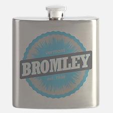 Bromley Mountain Ski Resort Vermont Sky Blue Flask