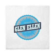 Glen Ellen Ski Resort Vermont Sky Blue Queen Duvet