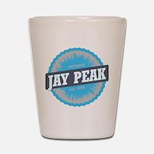 Jay Peak Ski Resort Vermont Sky Blue Shot Glass