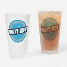 Mount Snow Ski Resort Vermont Sky Blue Drinking Gl