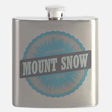 Mount Snow Ski Resort Vermont Sky Blue Flask
