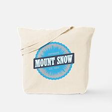 Mount Snow Ski Resort Vermont Sky Blue Tote Bag