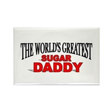 """The World's Greatest Sugar Daddy"" Rectangle Magne"