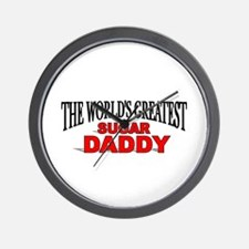 """The World's Greatest Sugar Daddy"" Wall Clock"