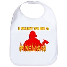 I WANT TO BE A FIREMAN SHIRT  Bib