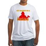 MY DADDY IS A FIREMAN SHIRT B Fitted T-Shirt