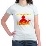MY DADDY IS A FIREMAN SHIRT B Jr. Ringer T-Shirt