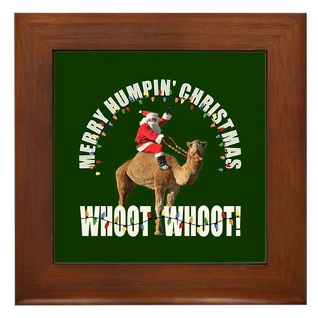 Merry Humpin Christmas Santa and Hump Day Camel Fr