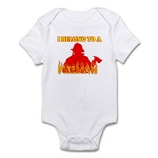 I BELONG TO A FIREMAN SHIRT T Infant Bodysuit