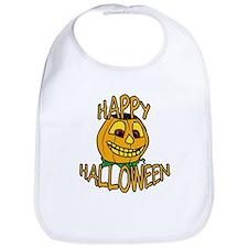 happy halloween Smiling Pumpkin Bib
