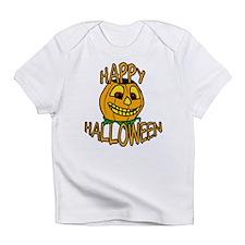 happy halloween Smiling Pumpkin Infant T-Shirt
