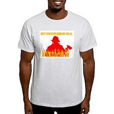 MY BOYFRIEND IS A FIREMAN SHI Ash Grey T-Shirt