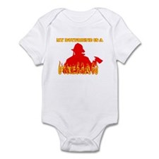 MY BOYFRIEND IS A FIREMAN SHI Infant Bodysuit