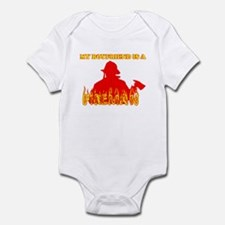 MY BOYFRIEND IS A FIREMAN SHI Infant Bodysuit