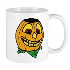 Creepy smiling halloween punmpkin Mugs