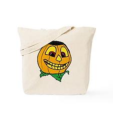 Creepy smiling halloween punmpkin Tote Bag