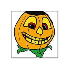 Creepy smiling halloween punmpkin Sticker