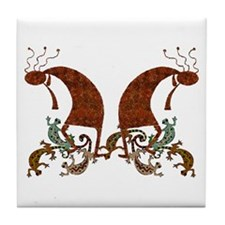 Kokopelli*Dance of the Geckos 2* - Tile Coaster