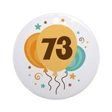 73rd Birthday Party Ornament (Round)