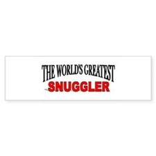 """The World's Greatest Snuggler"" Bumper Bumper Sticker"