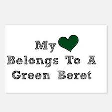 My Heart Belongs To A Green Beret Postcards (Packa